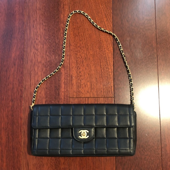 ff2ecba7287c CHANEL Handbags - Authentic Chanel East West Chocolate Bar Purse